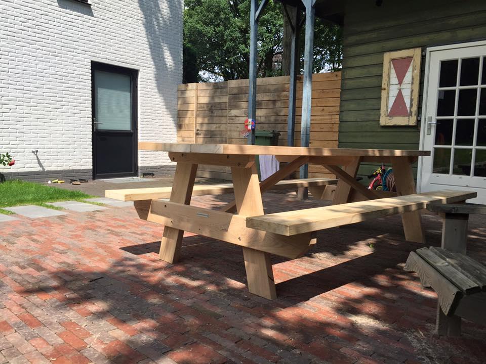 eichen picknickbank